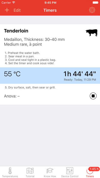 Screenshot for Sous Vide °Celsius in New Zealand App Store
