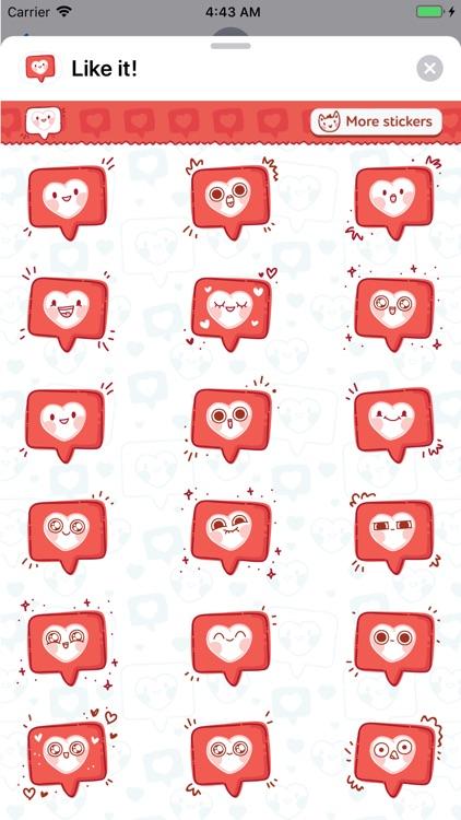 Like it! Animated stickers screenshot-4