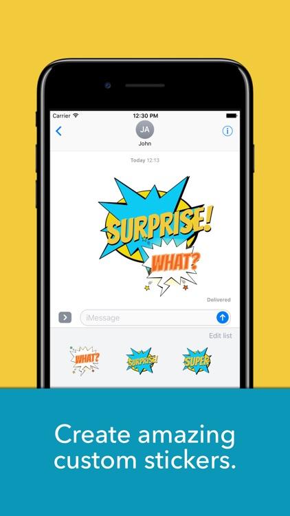 Speech bubbles-Custom stickers screenshot-0