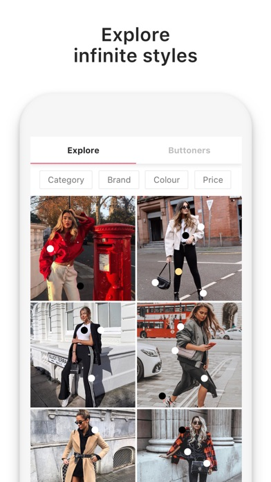 Screenshot for 21 Buttons: Fashion & Clothing in United Kingdom App Store