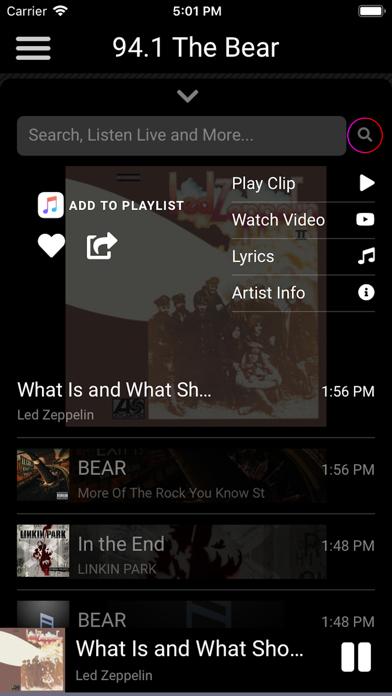 Screen Shot 94.1 The Bear 0