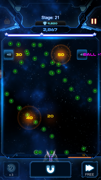 Bricks Breaker Galaxy Shooter screenshot 2
