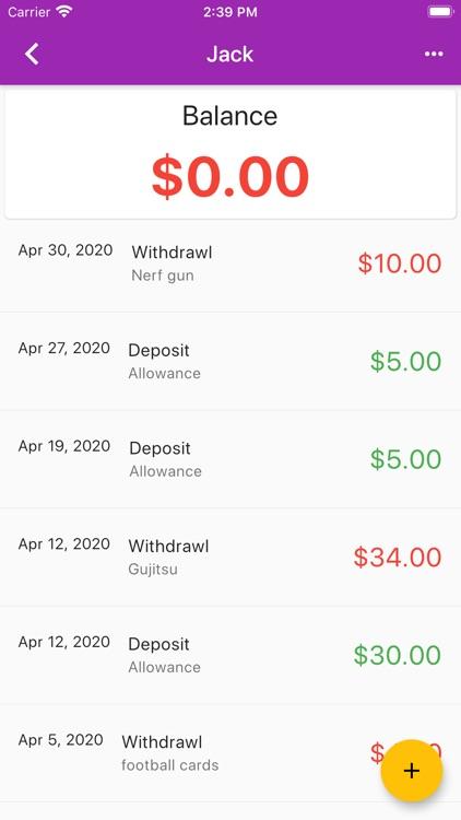 My Allowance screenshot-3