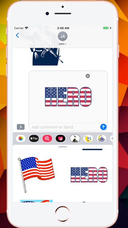 Memorial Day HD Stickers screenshot-5