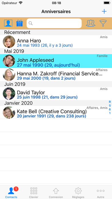 Screenshot for ContactsPro pour iPad in Lebanon App Store