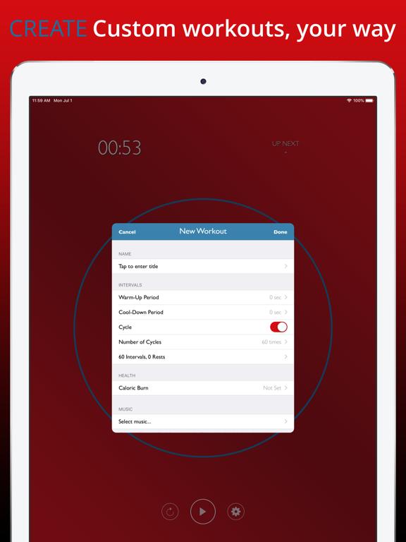 TuneTime Music Hour Premium: Interval, Crossfit, & HIIT Timer screenshot