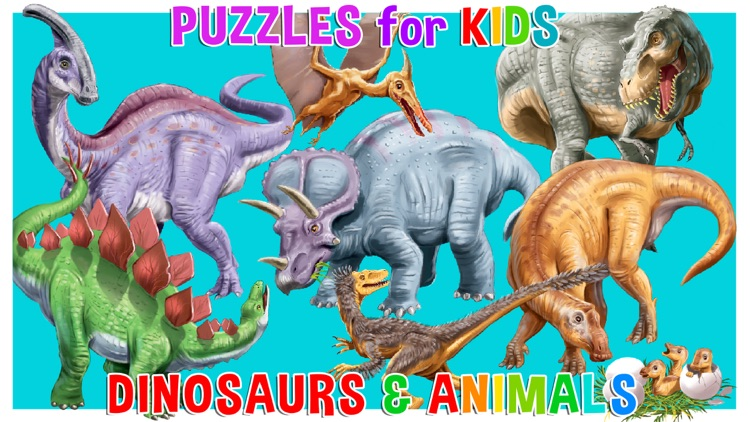 Kids puzzle games: Dinosaurs screenshot-0