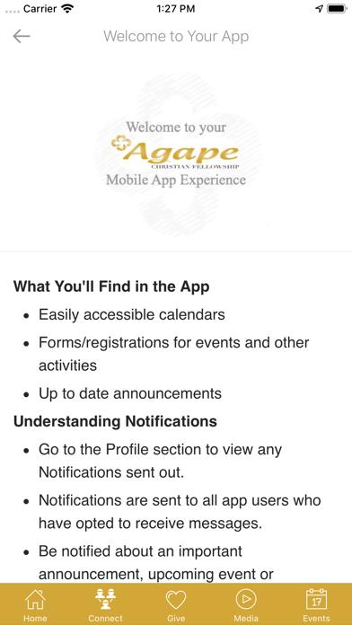 Agape Christian Fellowship screenshot 2