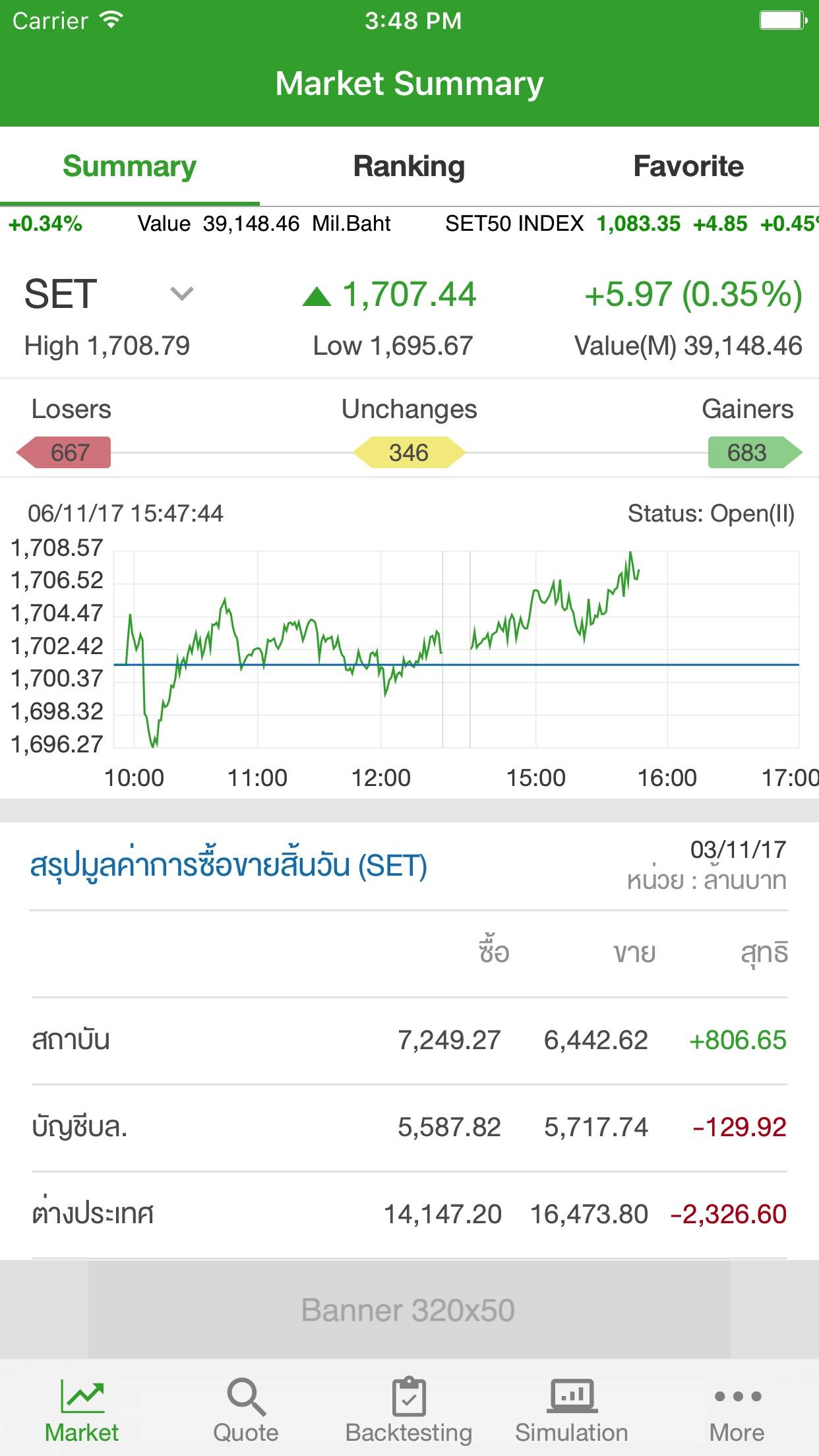 Settrade App Screenshot