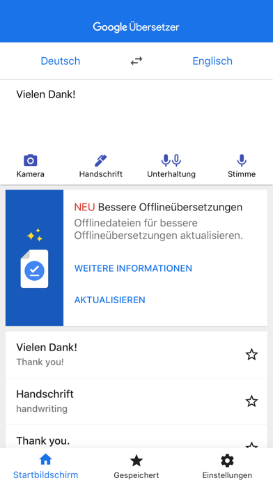 Screenshot for Google Übersetzer in Austria App Store
