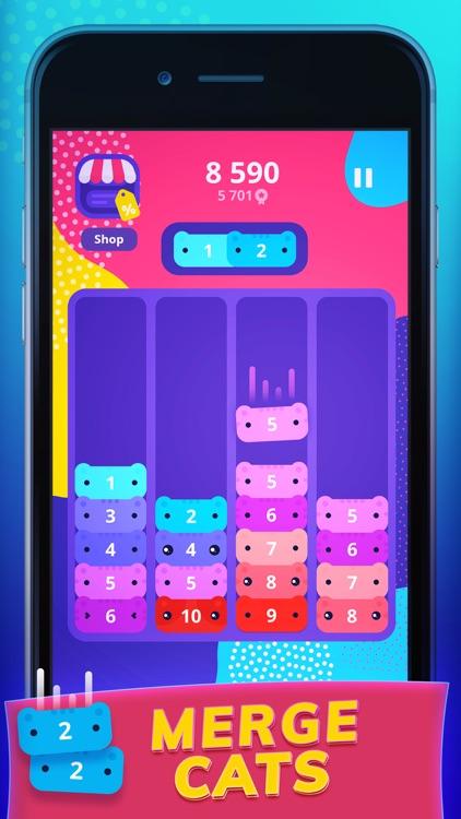 CATRIS - Cute Merging Cat Game screenshot-0