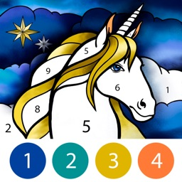 Unicorn Color by Number Book