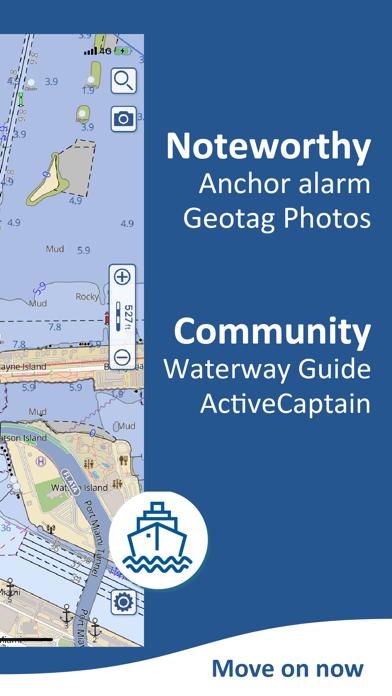 Aqua Map USA: Marine & Lake Screenshot