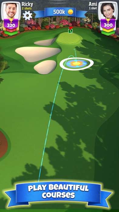 Screenshot from Golf Clash