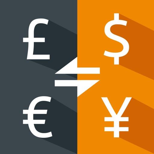 Money converter, live USD, EUR
