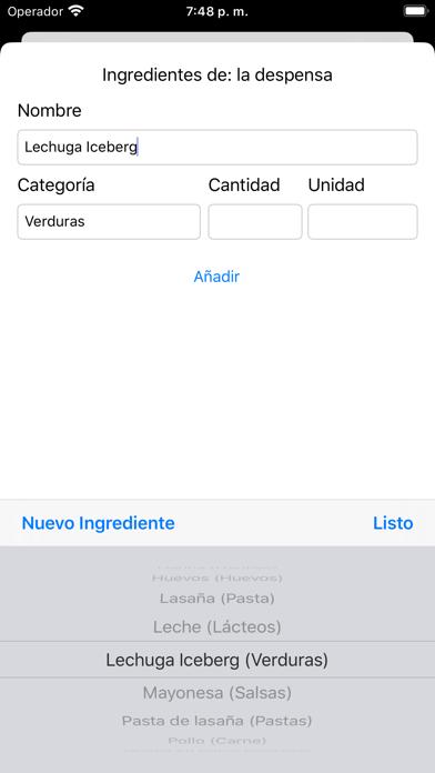MiMenúSemanal screenshot #2