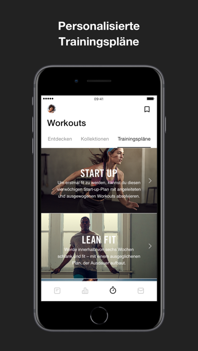 messages.download Nike Training Club software