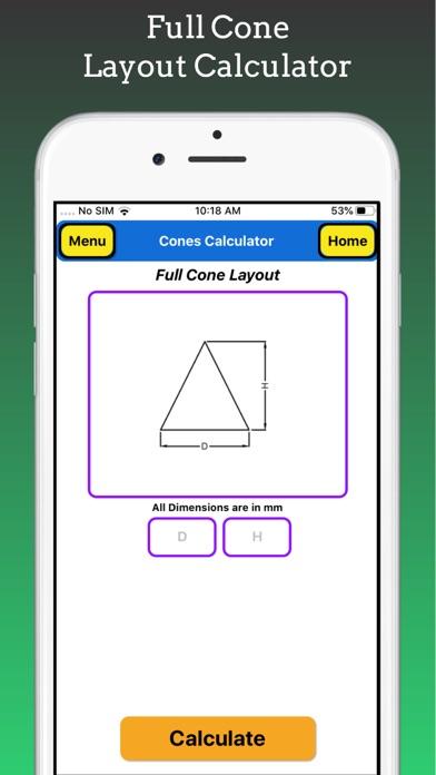 Cones Calculator Pro screenshot 5