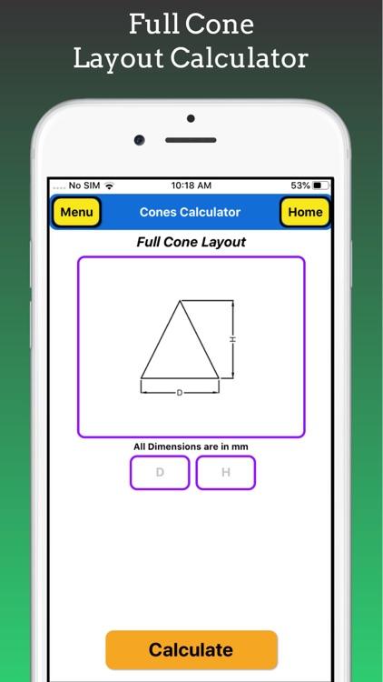 Cones Calculator Pro screenshot-4