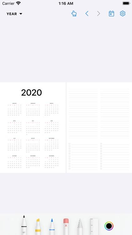 Pencil Planner & Draw Calendar screenshot-6