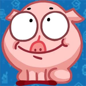 Cute Pig Stickers HD