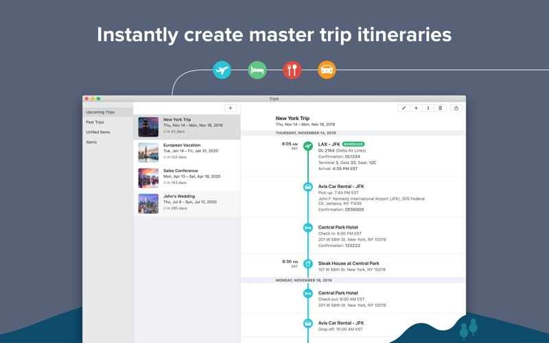 TripIt: Travel Planner for Mac