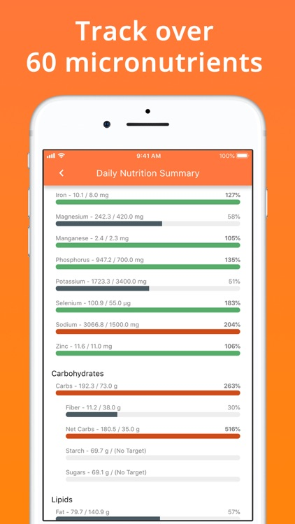Cron-o-Meter Nutrition Tracker screenshot-6