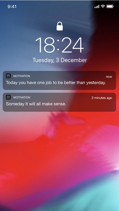 Motivation Screenshot on iOS