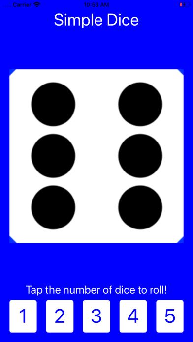 Simple Dice: Roll 1-5 Dice! screenshot one
