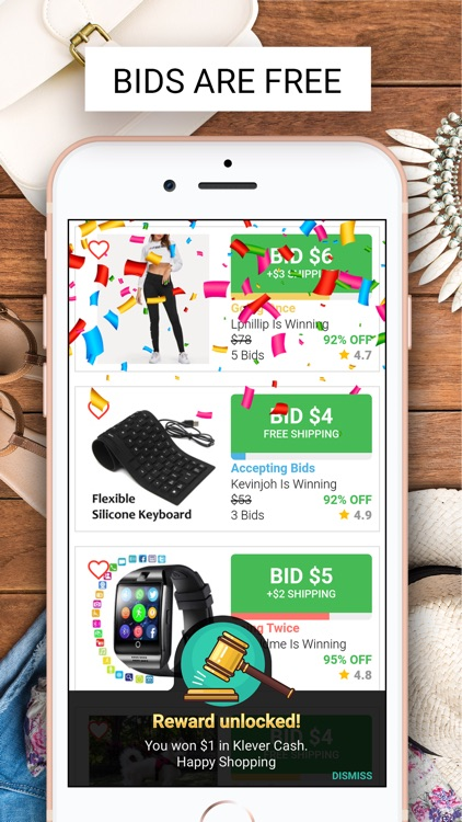 Klever: Live Shopping Auctions screenshot-4