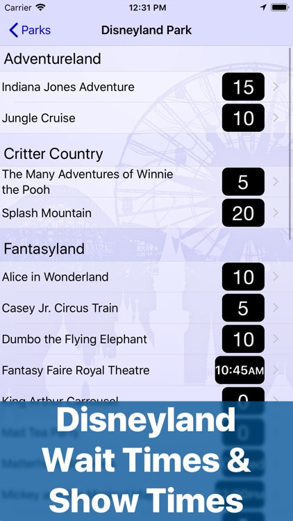 Wait Times for Disneyland screenshot-0