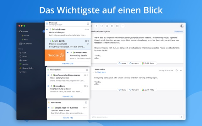 ‎Spark – E-Mail-App von Readdle Screenshot