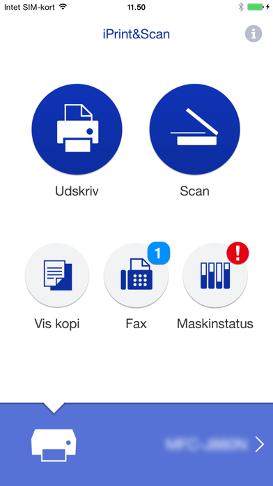 Screenshot for Brother iPrint&Scan in Denmark App Store