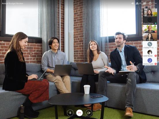 iPad Image of Hangouts Meet by Google