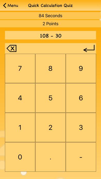 Quick Calculation Quiz screenshot two