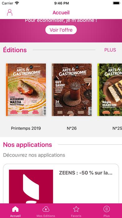 Arts & Gastronomie Magazine Screenshot
