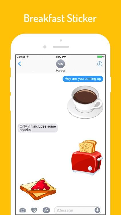 Food n Breakfast Stickers screenshot-3
