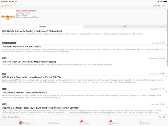 RSSRadio Podcast Downloader App screenshot