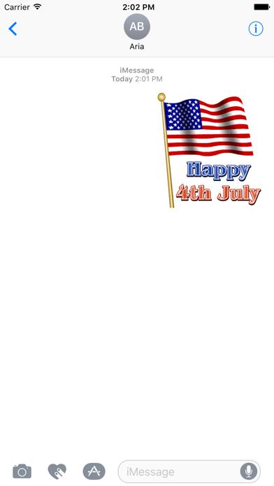 Happy Independence Day Sticker screenshot 1