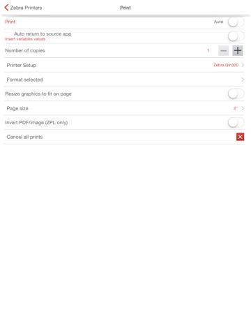 Screenshot of Mobi Print for Mobile Printers