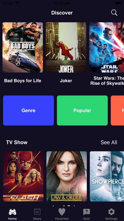 Movies Box - Show Box & Quiz