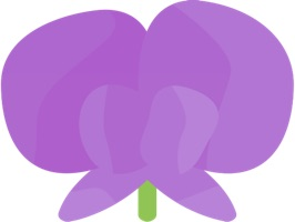 Sticker FlowersHi is 50 Stickers with content describing Flowers with high quality and clarity