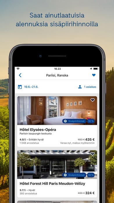 Screenshot for ebookers – Hotellit & Lennot in Finland App Store