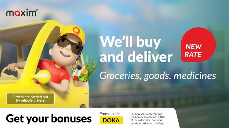 maxim — order taxi & delivery screenshot-0