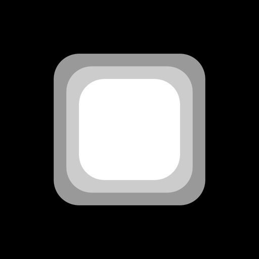 коснуться белый квадрат
