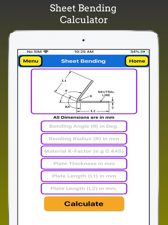 Sheet Bending Calculator Pro screenshot 5