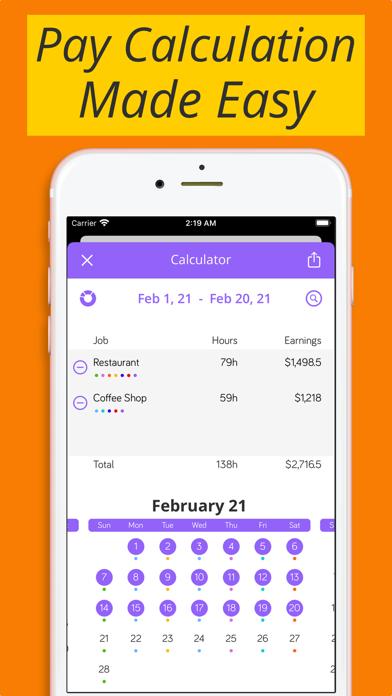 Shiftify:バイトの給料計算とシフト管理のスクリーンショット2