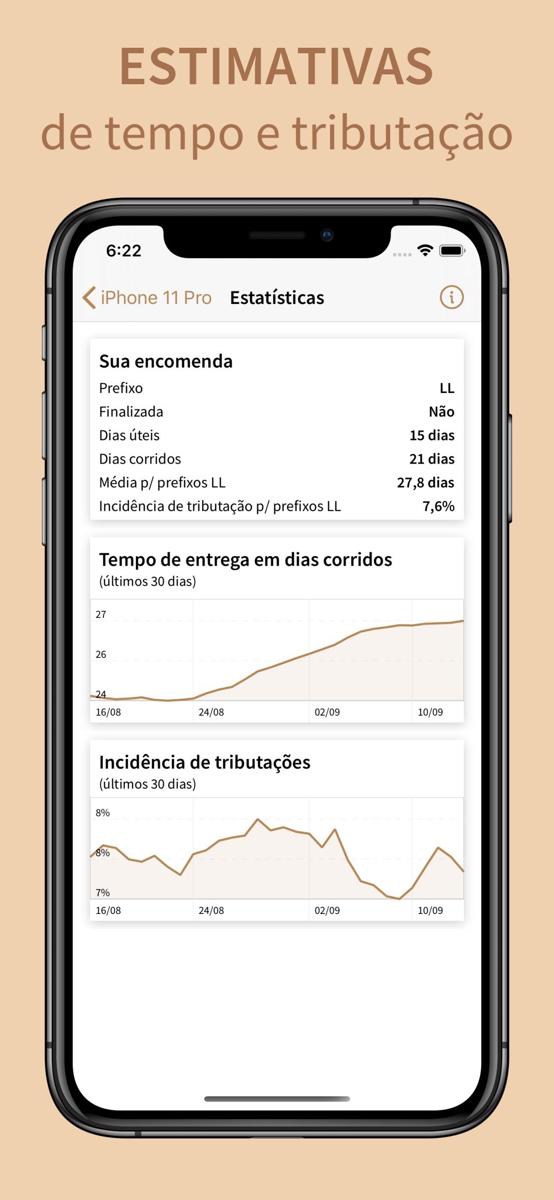 Screenshot do app PacoteVício