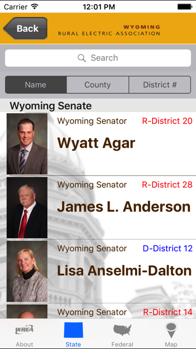 点击获取Wyoming Legislative Roster