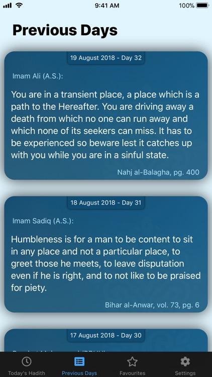 My Daily Hadith screenshot-3